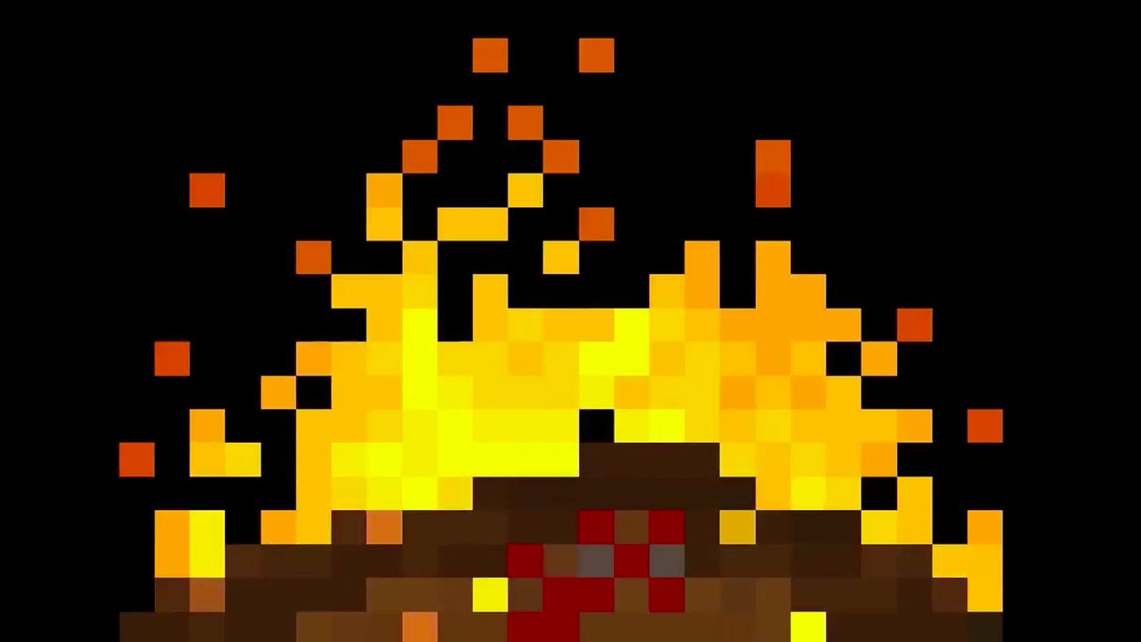 virtual pixel fireplace